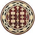 Handmade Elite Traditional Geometric Wool Rug (8' Round)