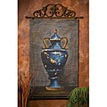 Hand-painted Blue Urn Bamboo Wall Art