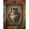 Hand-painted Black Urn Bamboo Wall Art