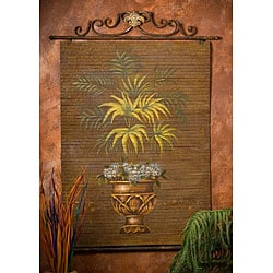 Hand-painted Fern Bamboo Wall Art