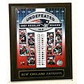 New England Patriot Undefeated Season Plaque