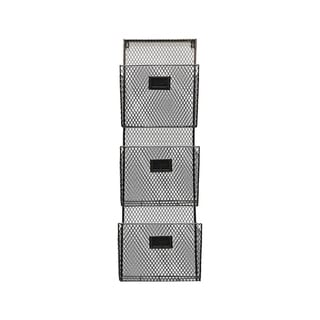 Designstyles Metal Three Pocket Wall File Holder