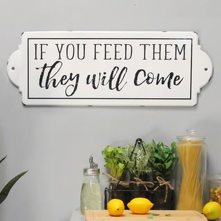 The Gray Barn 'If You Feed Them They Will Come' Metal Wall Art
