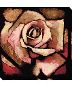 Arthur Albin 'Rose Study I' Wrapped Canvas Art