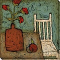 DeRosier 'Vase with Fruit I' Wrapped Canvas Art