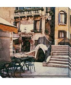 Ernesto Rodriguez 'Trattoria al Ponte' Canvas Art