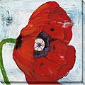 Laura Gunn 'Poppies on Blue II' Wrapped Canvas Art