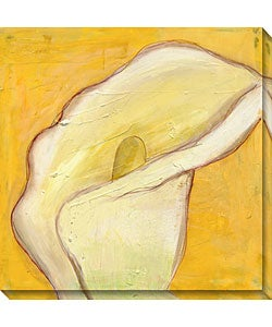 Laura Gunn 'Calla Lily on Gold I' Canvas Art