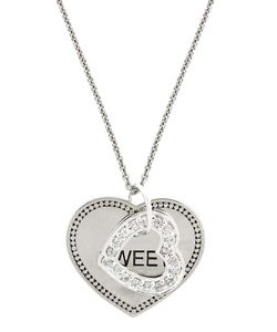 ICZ Stonez Sterling Silver 'Sweet' Heart Cubic Zirconia Necklace