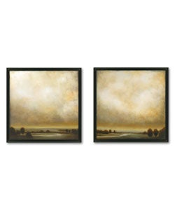 St. John 'Partly Cloudy' Framed Canvas Art Set