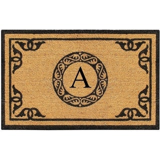 "A1HC Hand Crafted by Artisans Geneva Monogrammed Entry Doormat 30""X48"""