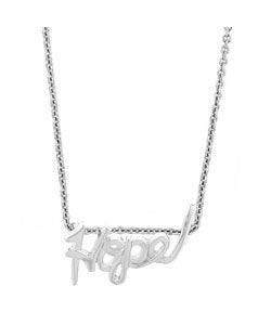Mondevio Sterling Silver 'Hope' Necklace