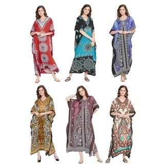 Polyester Kaftans Plus Size Dresses for Women Printed caftans Maxi Dress Online