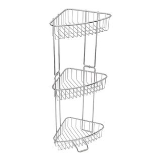 ToiletTree Products Rust Proof Stainless Steel Shower Floor Caddy, 3 Tiers-Assembly Required-Screwdriver Included-Collapsible
