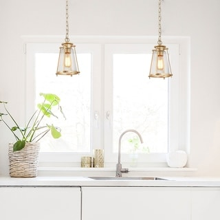 "Modern Haning Lighting Fixture Golden Ceilling Light for Kitchen - W7.5""x H11"""