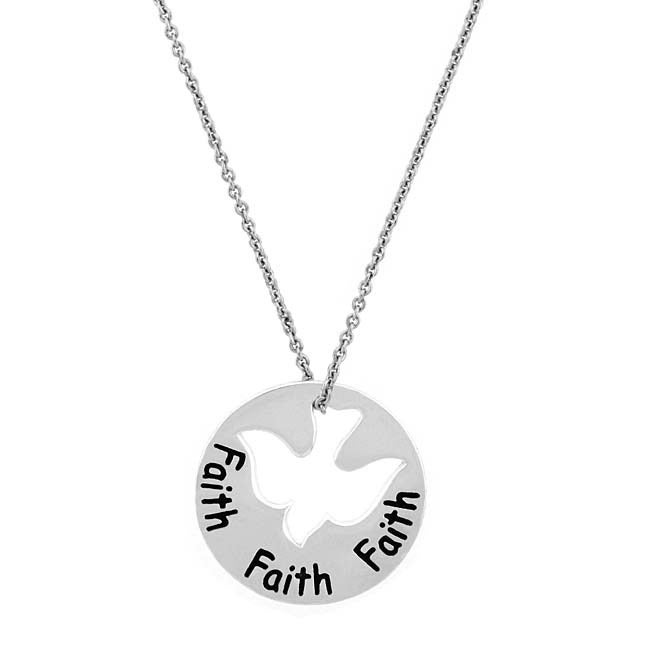 Mondevio Sterling Silver Faith Dove Necklace