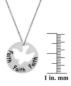 Mondevio Sterling Silver Faith Dove Necklace