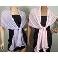 Satin-Border Chiffon Wrap (Pack of Two)