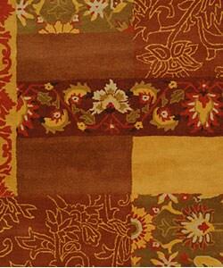Handmade Cosmopolitan Blocks Wool Rug (9' x 12')