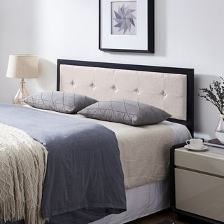 Blaney Modern Industrial Tufted Upholstered Headboard by Christopher Knight Home