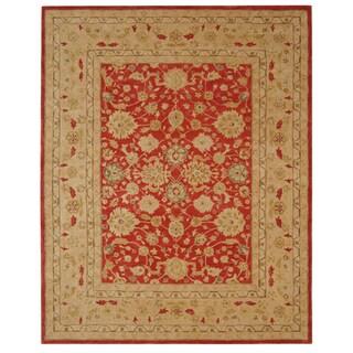 Safavieh Handmade Mahal Ancestry Red/ Ivory Wool Rug (9'6 x 13'6)