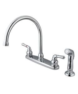 Dual Handle Chrome Kitchen Faucet