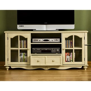 Medallion Antique White Entertainment Center