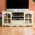 Upton Home Medallion Antique White Entertainment Center