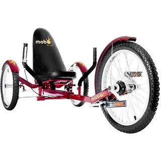 Mobo Triton Pro The Ultimate Adult Three Wheeled Red Cruiser
