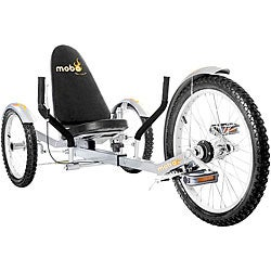 Mobo Triton Pro The Ultimate Adult Three Wheeled Silver Cruiser