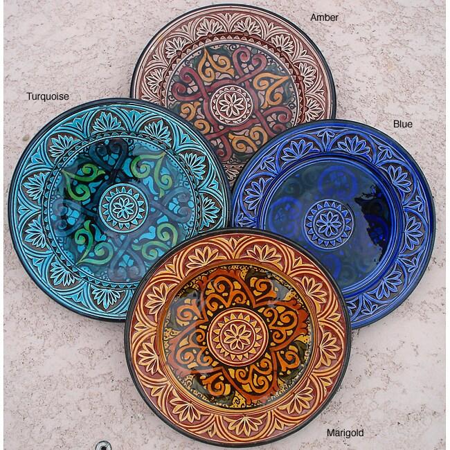 Petite Royale Engraved Ceramic Plate (Morocco)