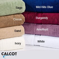 Calcot Supima Zero Twist Fold-Over Edging Cotton 6-piece Towel Set