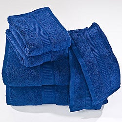 Calcot Supima Zero Twist Fold-Over Edging Cotton Towels (Set of 6)