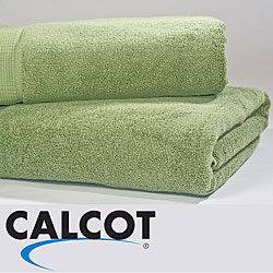 Calcot Supima Zero Twist Foldover Edging Cotton Bath Sheet (Set of 2)