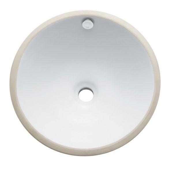 courtyard round undermount white lavatory sink 11164474 overstock