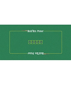Green Texas Hold 'Em Poker Felt Layout