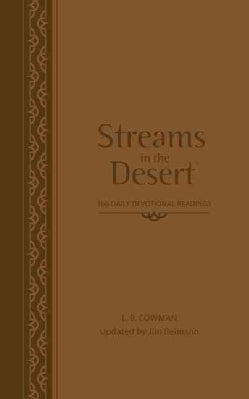 Streams in the Desert: 366 Daily Devotional Readings, Walnut, Italian Duo-tone (Paperback)