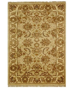 Safavieh Hand-knotted Beige/ Ivory Heritage Wool Rug (5' x 8')