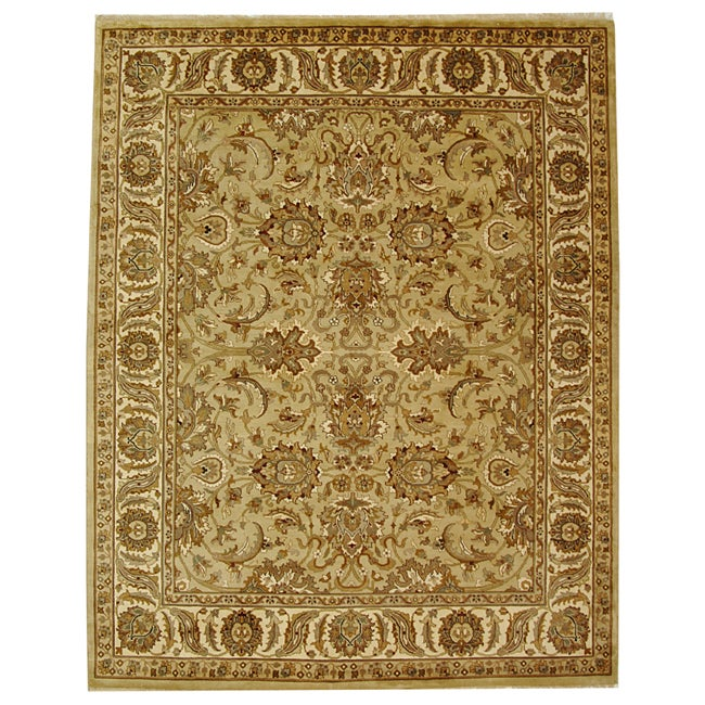 Safavieh Hand-knotted Beige/ Ivory Heritage Wool Rug (9' x 12')