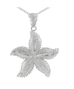 Tressa Sterling Silver Large Starfish Necklace