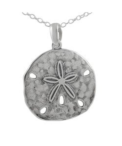 Tressa Sterling Silver Large Plain Sand Dollar Necklace