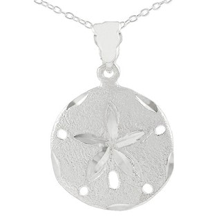 Tressa Sterling Silver Sand Dollar Necklace