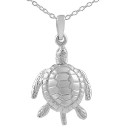 Tressa Sterling Silver Medium Movable Sea Turtle Pendant