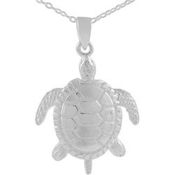 Tressa Sterling Silver Moveable Sea Turtle Pendant