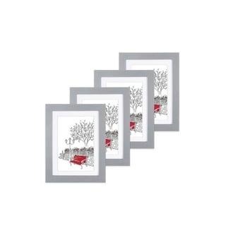 """Parkwood Gray 5""""x 7"""" Frame - Set of 4"""