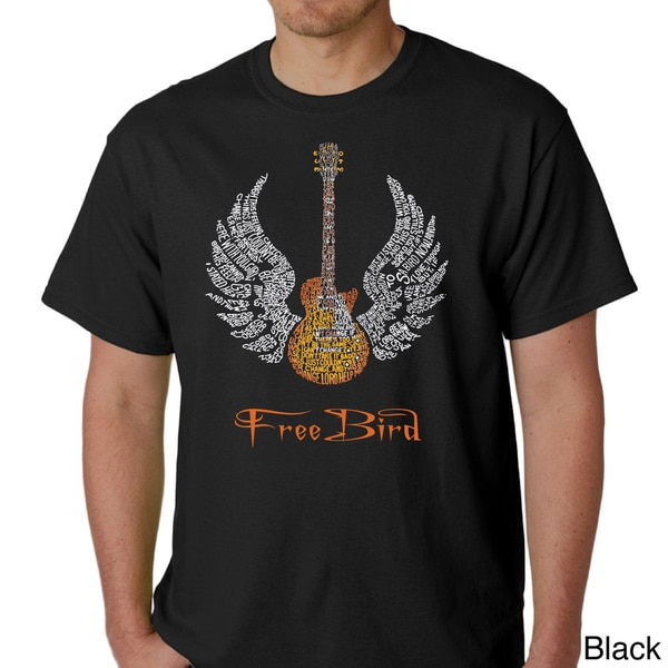Skynyrd Men's Rock & Roll Freebird 'Lyric' T-shirt (As Is Item)
