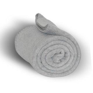 50x60 Deluxe Yarn Dyed Light Gray Fleece Throw