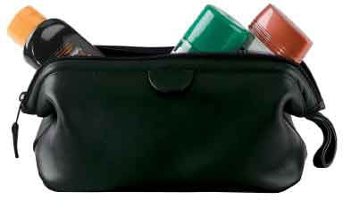 Royce Men's Faux Leather Toiletry Bag