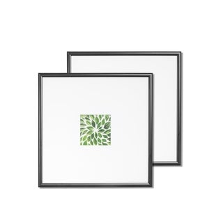 """VISTA Kayan Set of two (2) 14""""x 14"""" frames in BLACK, Wide Mats w 4""""x 4"""" Openings"""