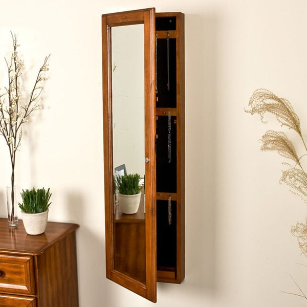 Upton Home Carson Oak Jewelry Armoire